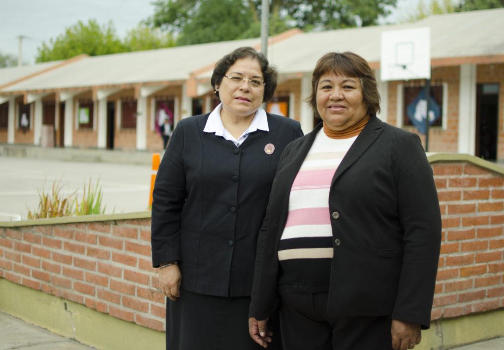 Directora y Vicedirectora del Colegio Divino Redentor