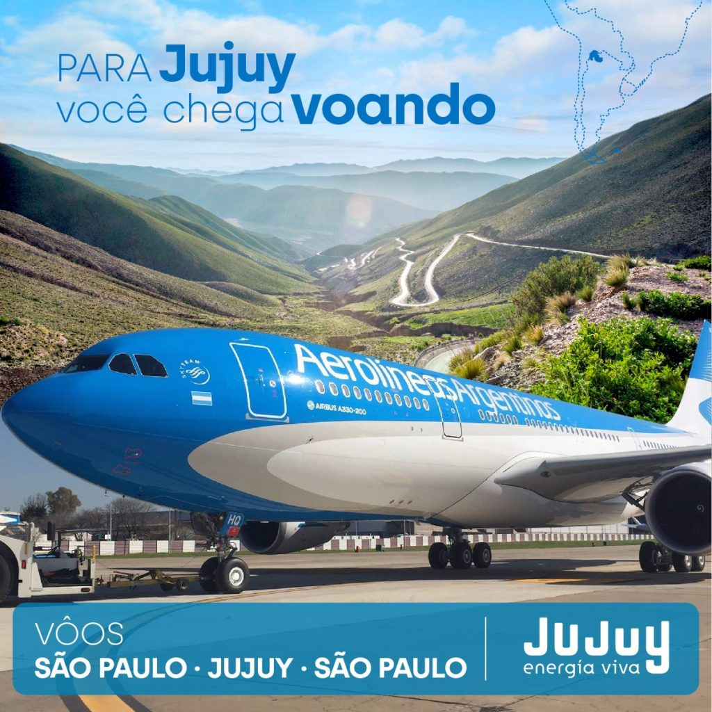 Arribó a Jujuy el vuelo regular proveniente de San Pablo.