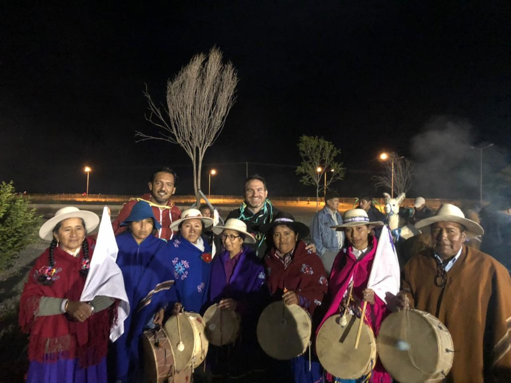 Medina Zar y Valdecantos acompañaron a los organizadores del Festival y los artistas que desfilaron en esta nueva edición